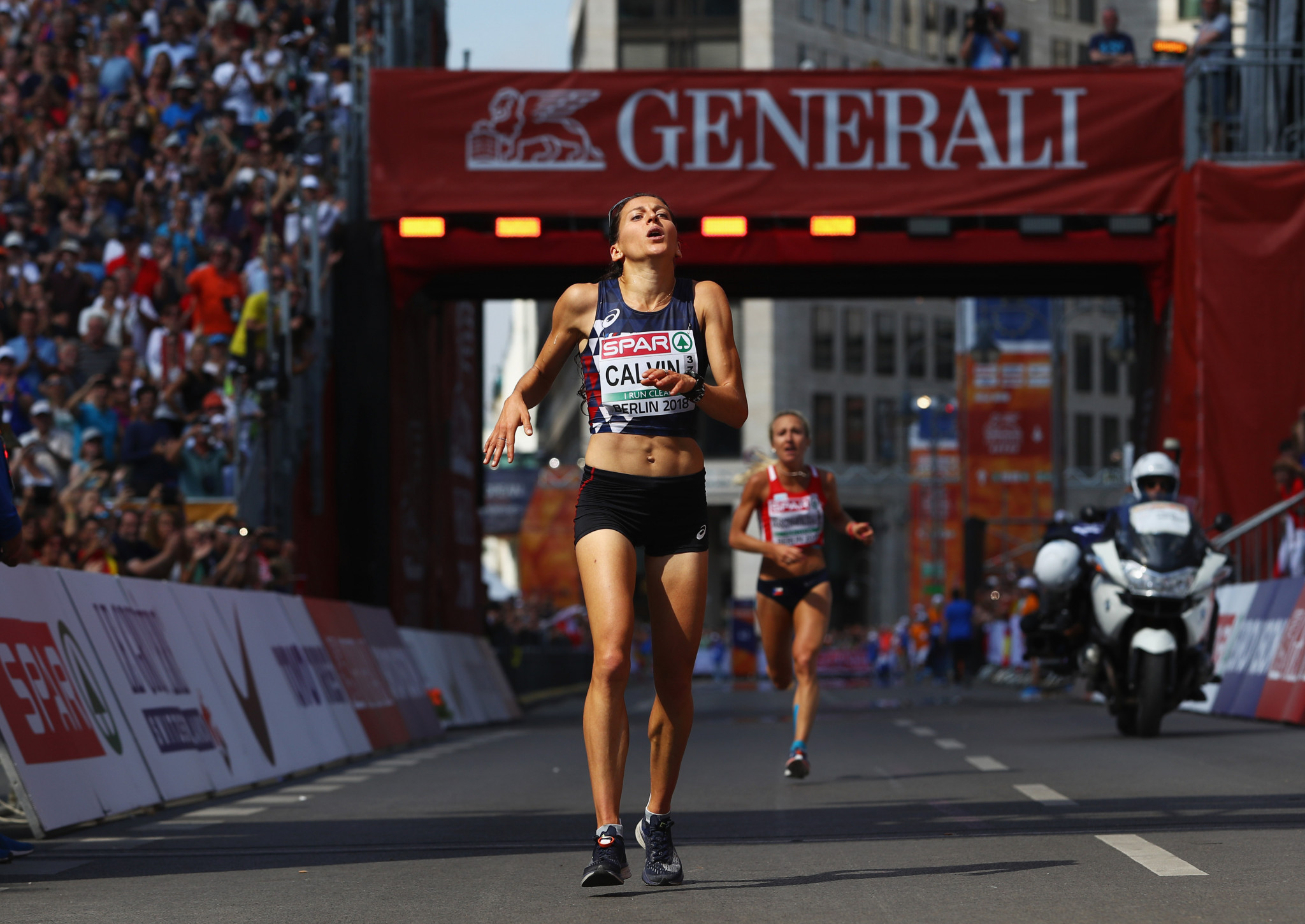 French marathon runner Clemence Calvin has had a provisional suspension lifted ©Getty Images