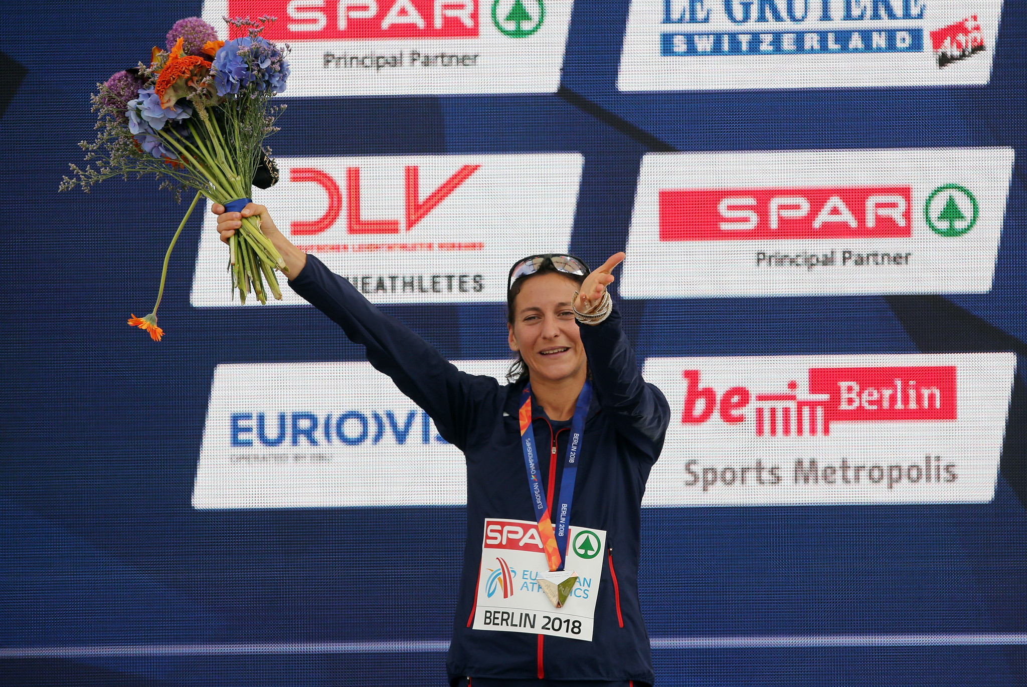 France's Clemence Calvin took silver in the women's marathon at the 2018 European Athletics Championships in Berlin ©Getty Images