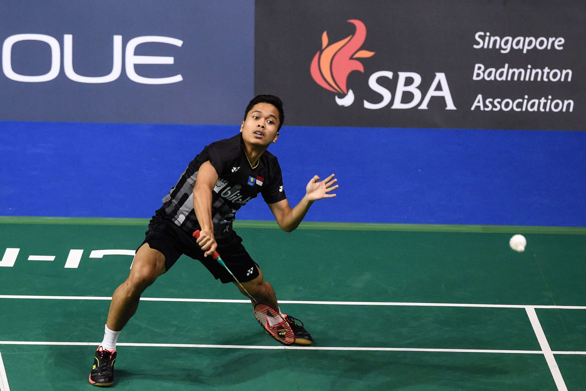 Indonesia's Anthony Ginting is a surprise men's finalist at the BWF Singapore Open ©Getty Images