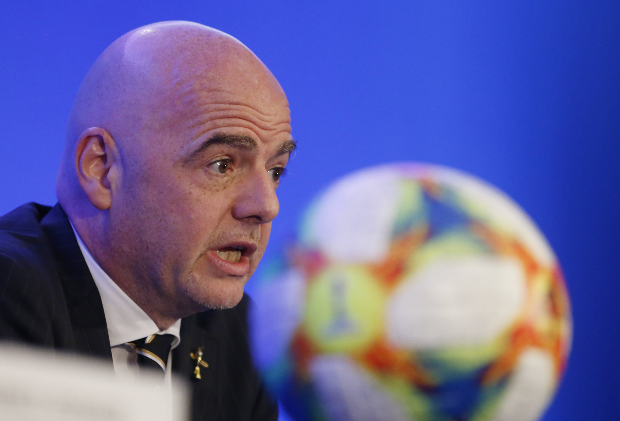 FIFA President Gianni Infantino has condemned recent racist incidents in football ©Getty Images