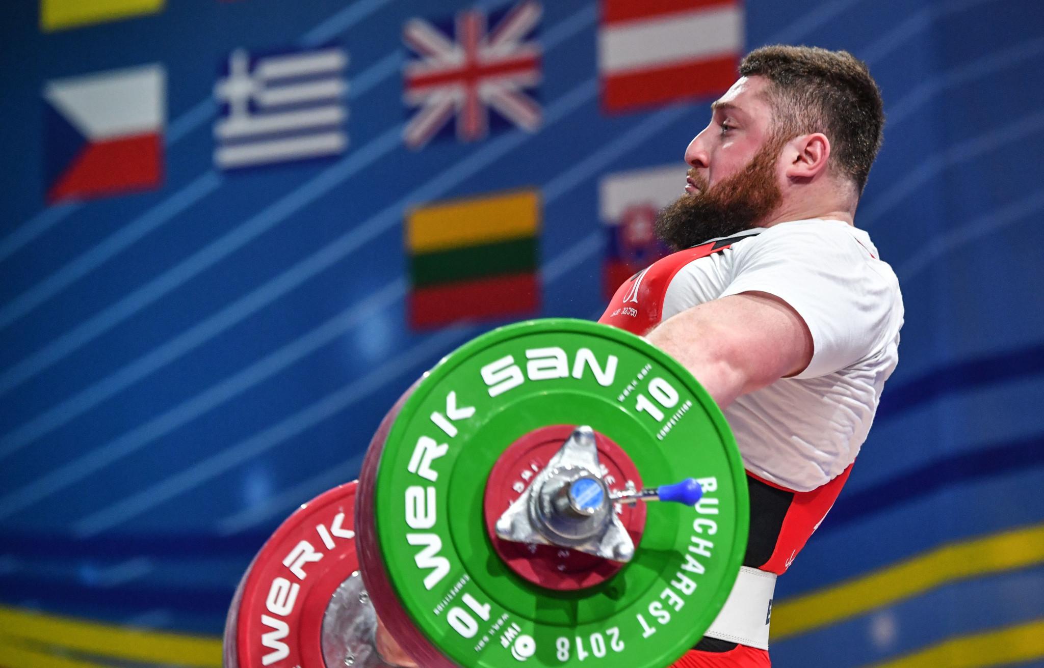 Lasha Talakhadze set three world records ©Getty Images