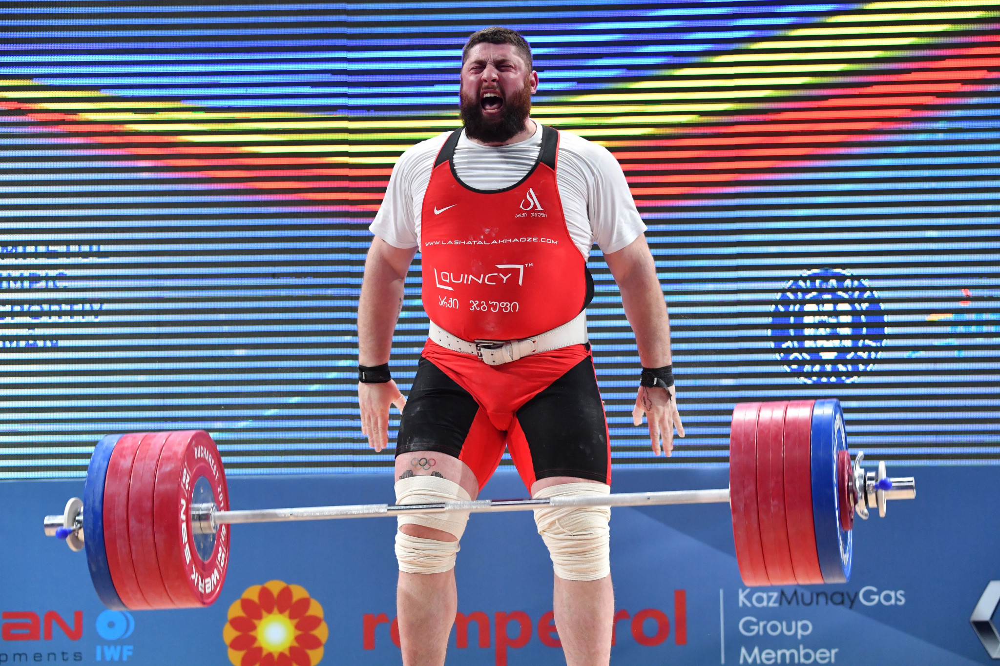 Three world records for home favourite Talakhadze in European Weightlifting Championships