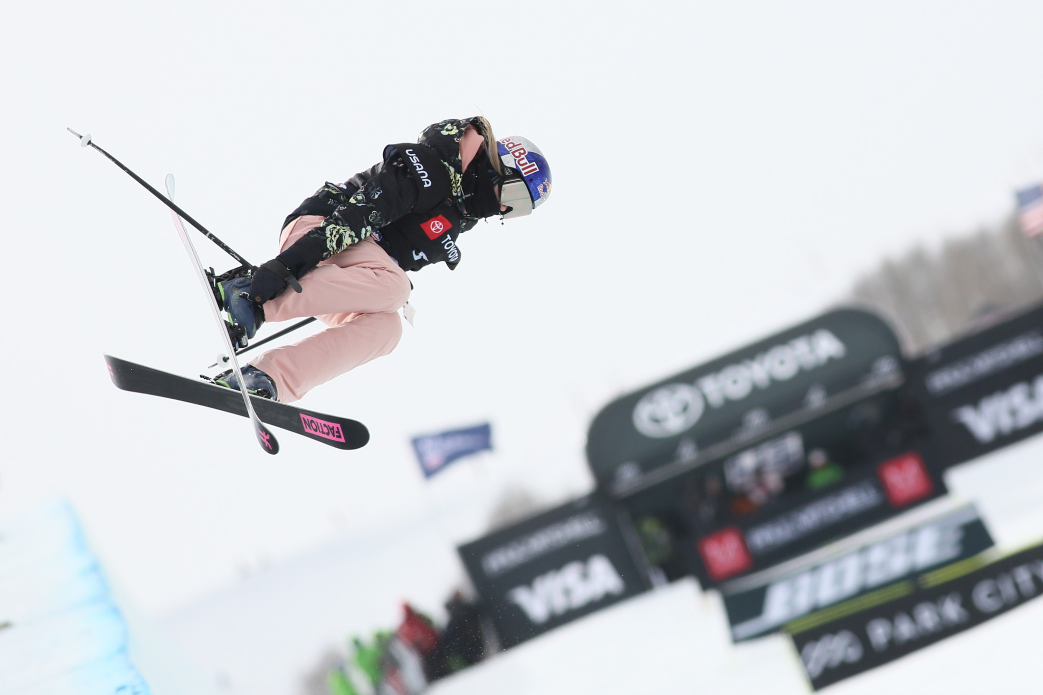 Estonia's Kelly Sildaru triumphed in the women's freestyle big air at the FIS World Junior Freestyle Skiing Championships ©Getty Images