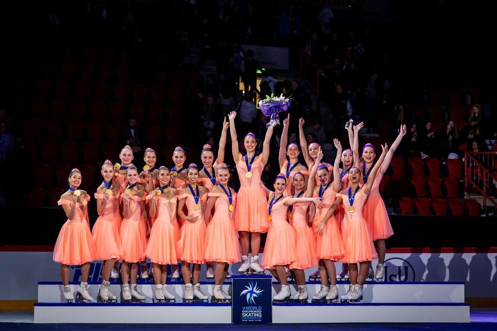 Russia's Team Paradise regained the ISU World Synchronized Skating title in Helsinki tonight ©ISU