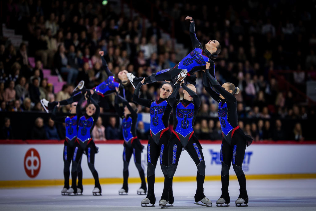 Defending world synchronized skating champions Team Marigold Ice Unity had to settle for silver on the home ice ©ISU