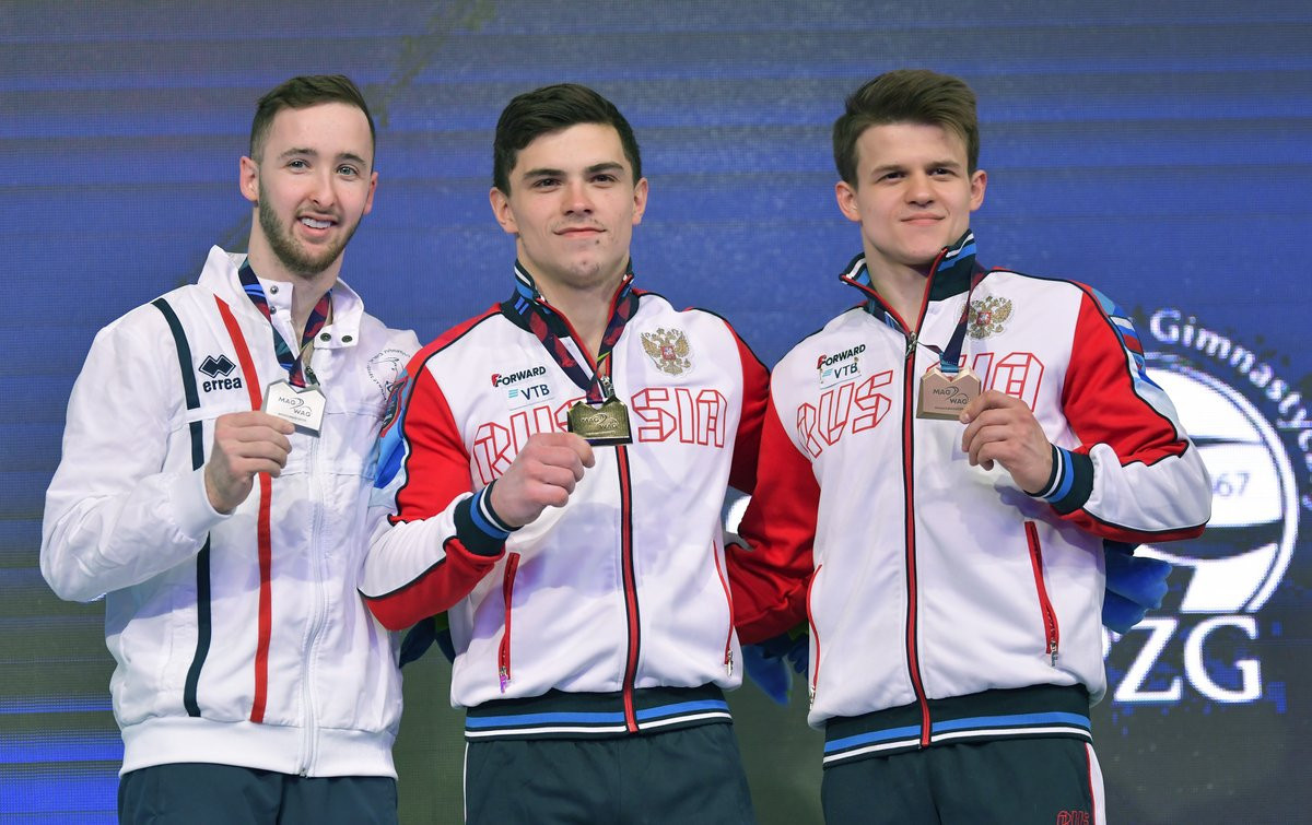 Russian gymnasts won four of the five apparatus gold medals available today at the European Artistic Gymnastics Individual Championships ©European Union of Gymnastics