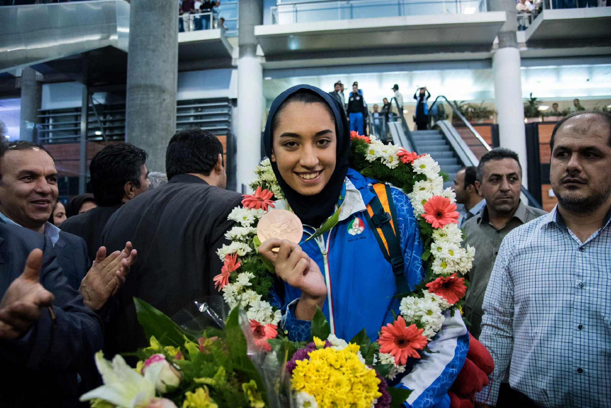 Kimia Alizadeh became the first Iranian woman to win an Olympic medal after earning taekwondo bronze at Rio 2016 ©Getty Images