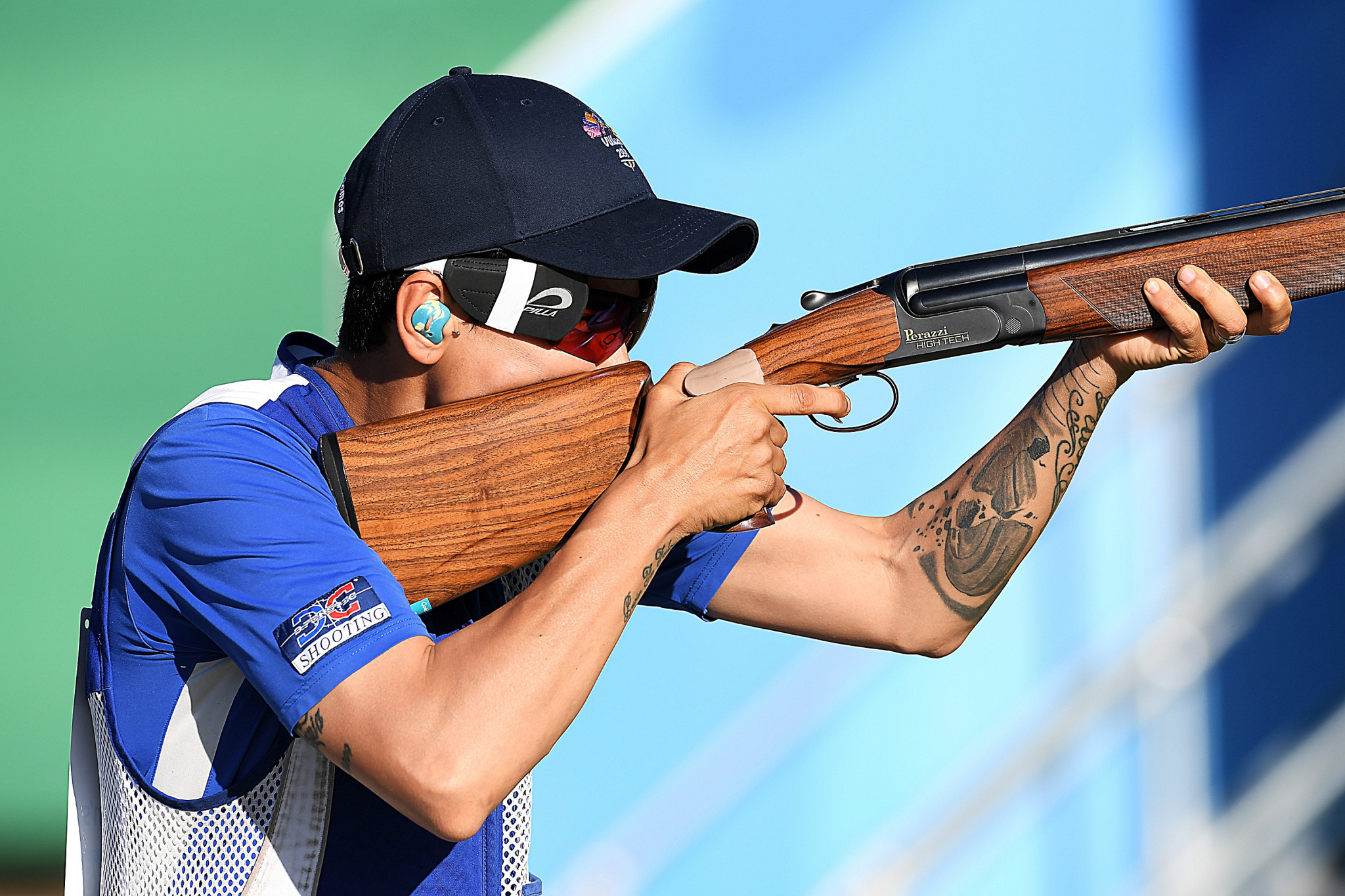 Cyprus's Andri Eleftheriou topped women's skeet qualifying at the ISSF Shotgun World Cup ©Getty Images