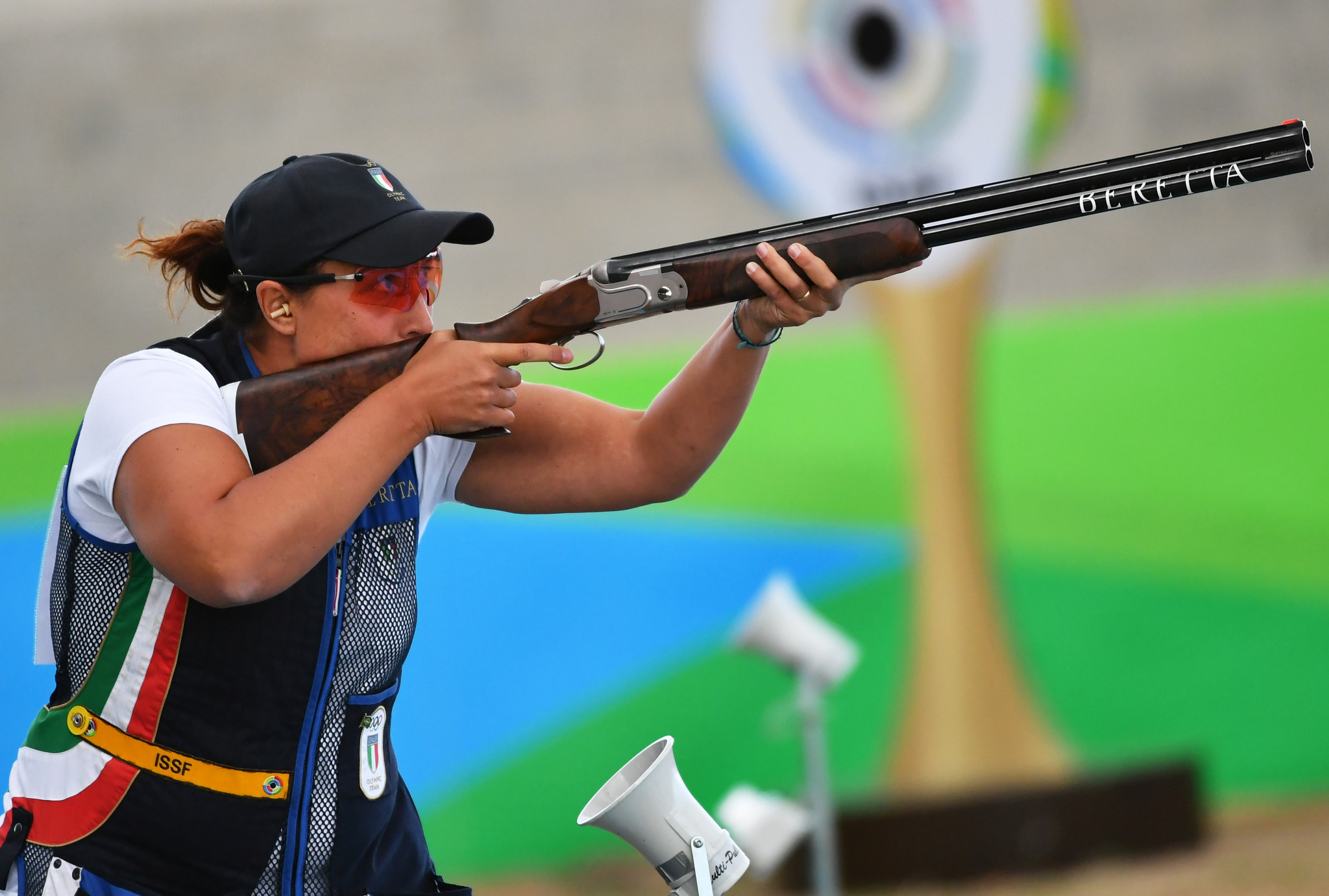Olympic champion Diana Bacosi of Italy was third in women's skeet qualifying at the ISSF Shotgun World Cup ©Getty Images