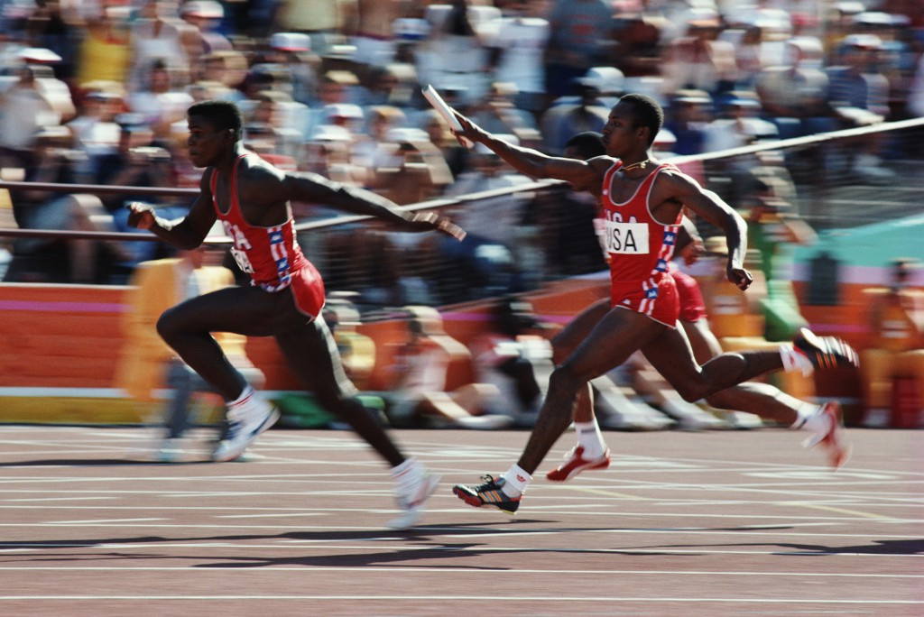 United States' world record breaking 4x100m relay victory was cited by Eric Garcetti as a personal highlight of Los Angeles 2024 ©Getty Images