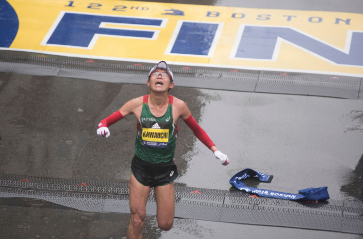 Boston will be marathon number four so far this year for last year's surprise winner Yuki Kawauchi, a government worker from Japan who is back to defend his title tomorrow ©Getty Images