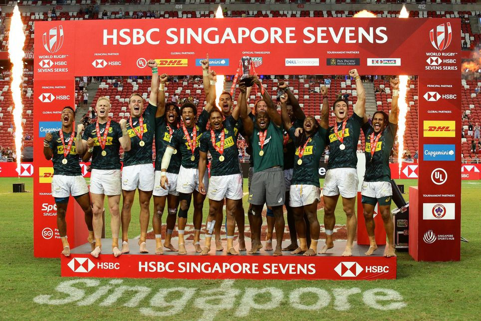 South Africa overturn 19-point deficit against Fiji to secure Singapore World Rugby Sevens title