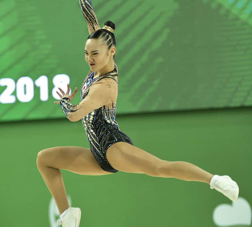 World champion Kitazume takes gold in front of home crowd at FIG Aerobic World Cup