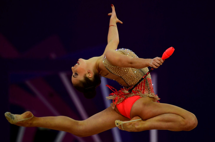 Home athlete Katrin Taseva followed up her bronze on the previous night with three silver medals in individual apparatus finals as the FIG Rhythmic Gymnastics World Cup concluded in Sofia ©Getty Images