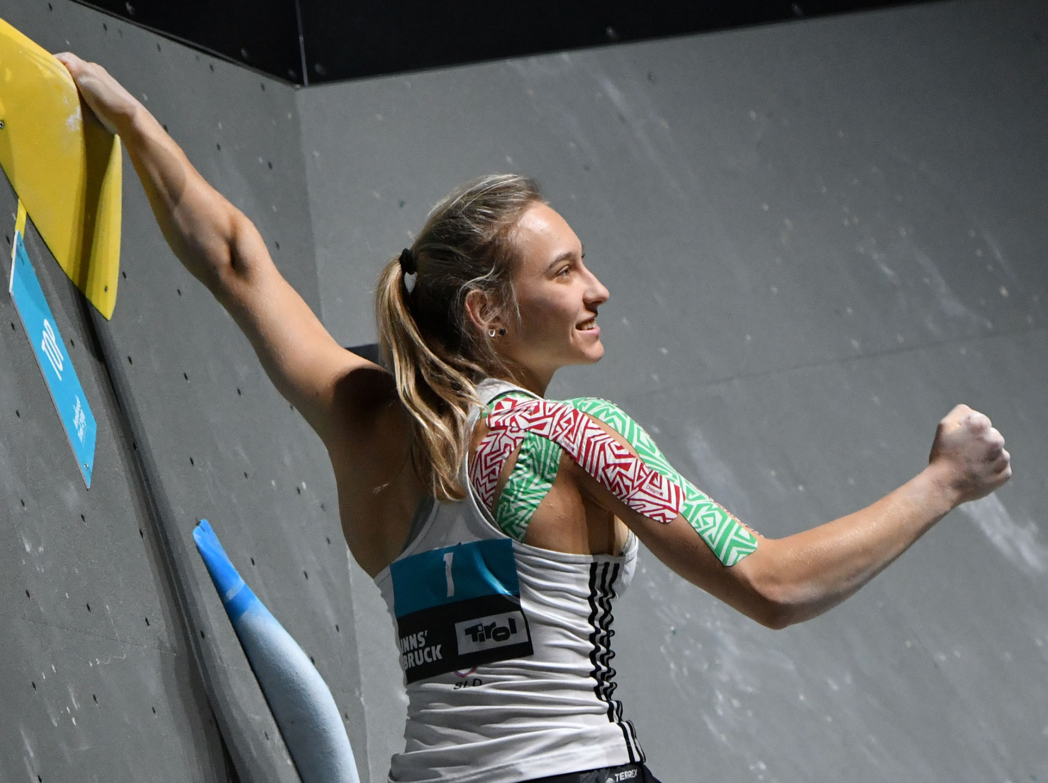 Slovenia's Janja Garnbret won the women's bouldering event at the IFSC Climbing World Cup ©Getty Images