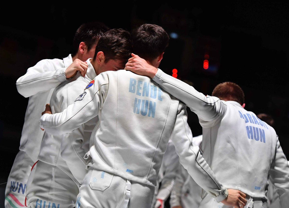 Hungary won the men's team épée events at the Junior and Cadets World Fencing Championships ©Fencing Torun