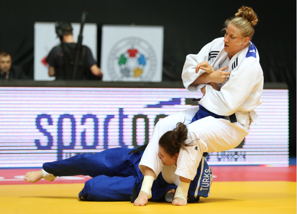 Top seed Anamari Velensek secured victory in the women's 78 kilogram competition ©International Judo Federation