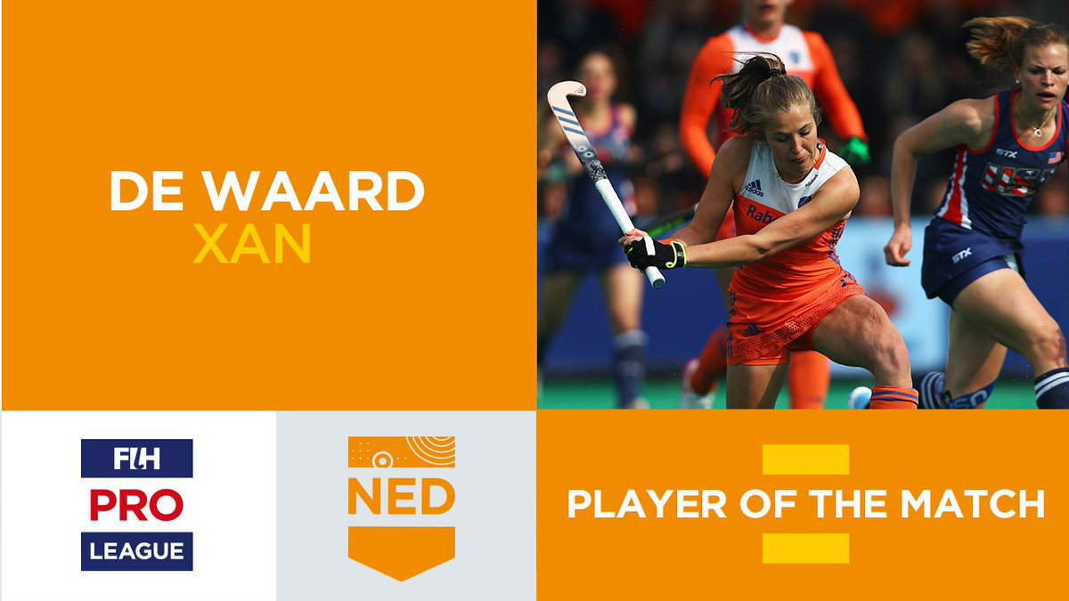 Xan de Waard was named the player of the match ©FIH/Twitter