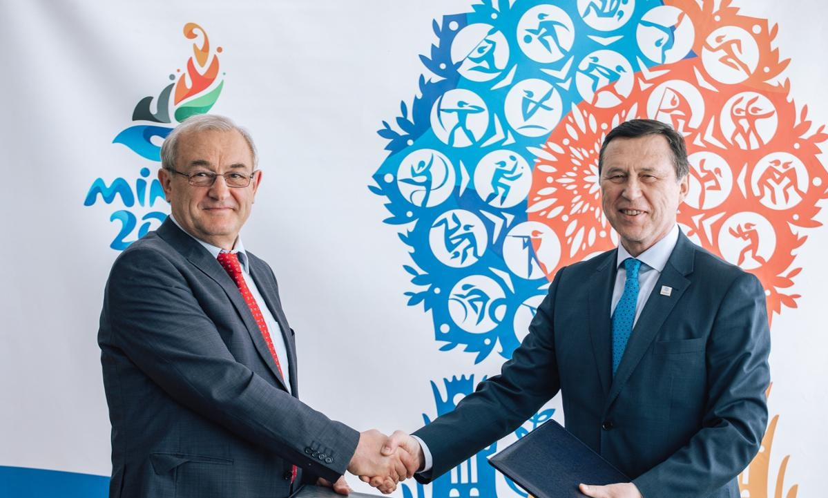 Minsk 2019 has signed a partnership agreement with the Minsk Soft Drink Company ©Minsk 2019