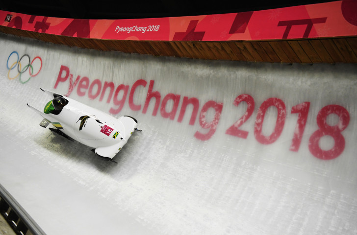 Jazmine Fenlator-Victorian and Carrie Russell became the first Jamaican women to take part in the Winter Olympics when they contested the women's bobsleigh at the Pyeongchang 2018 Games ©Getty Images
