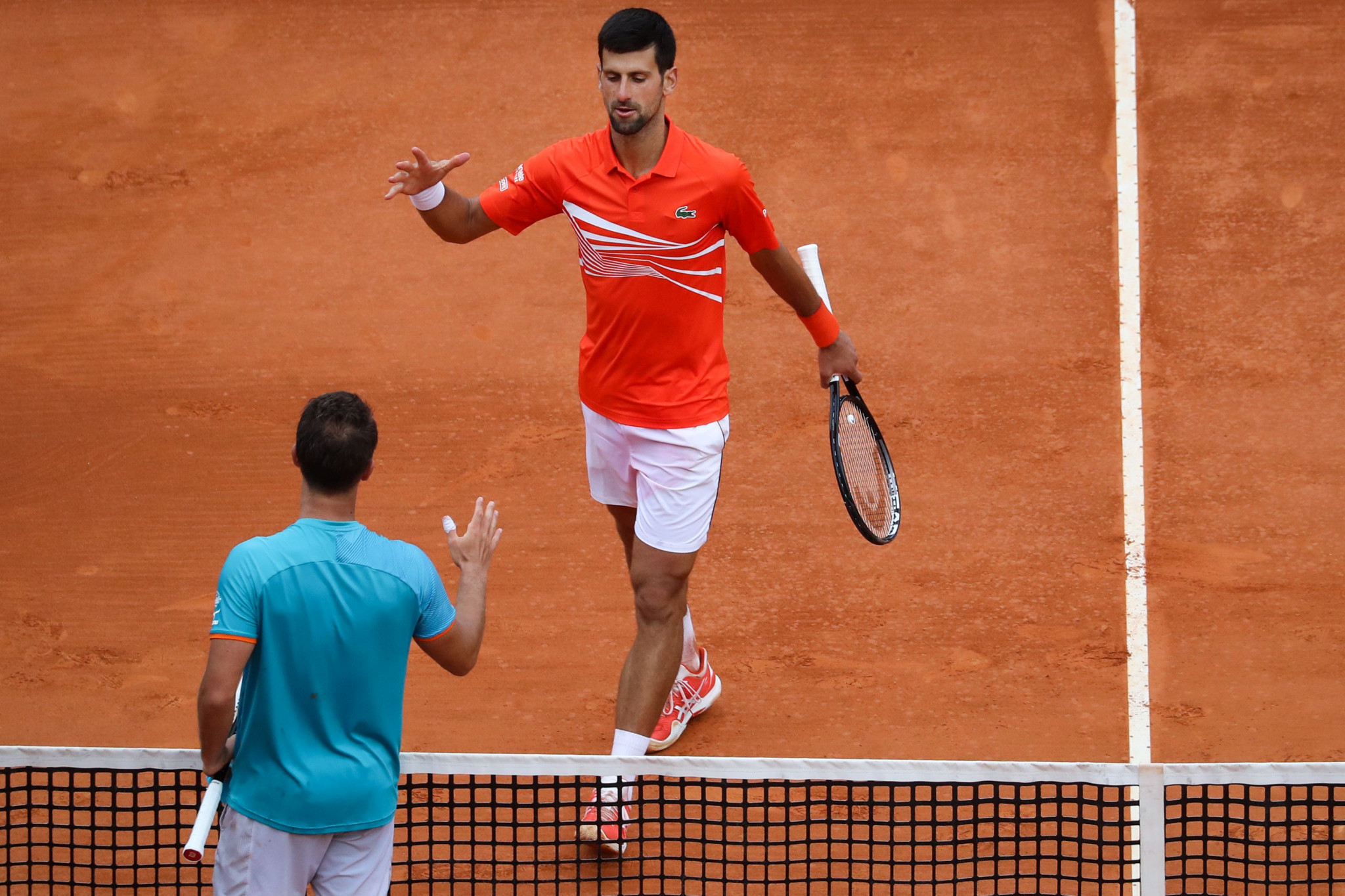 Novak Djokovic advancet to the third round of the Monte Carlo Masters event ©Getty Images