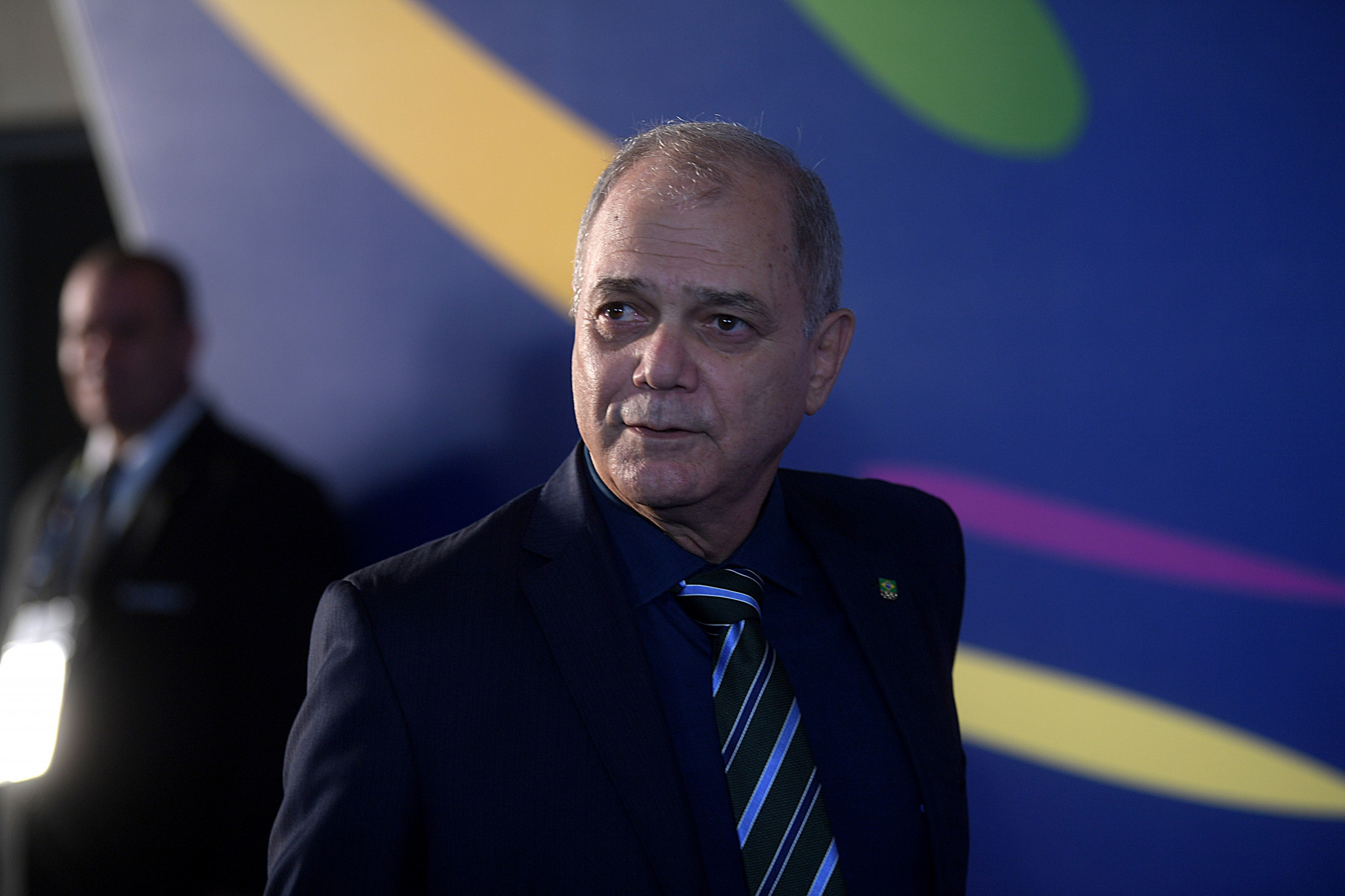 Brazilian Olympic Committee President Paulo Wanderley Teixeira opened the event ©Getty Images