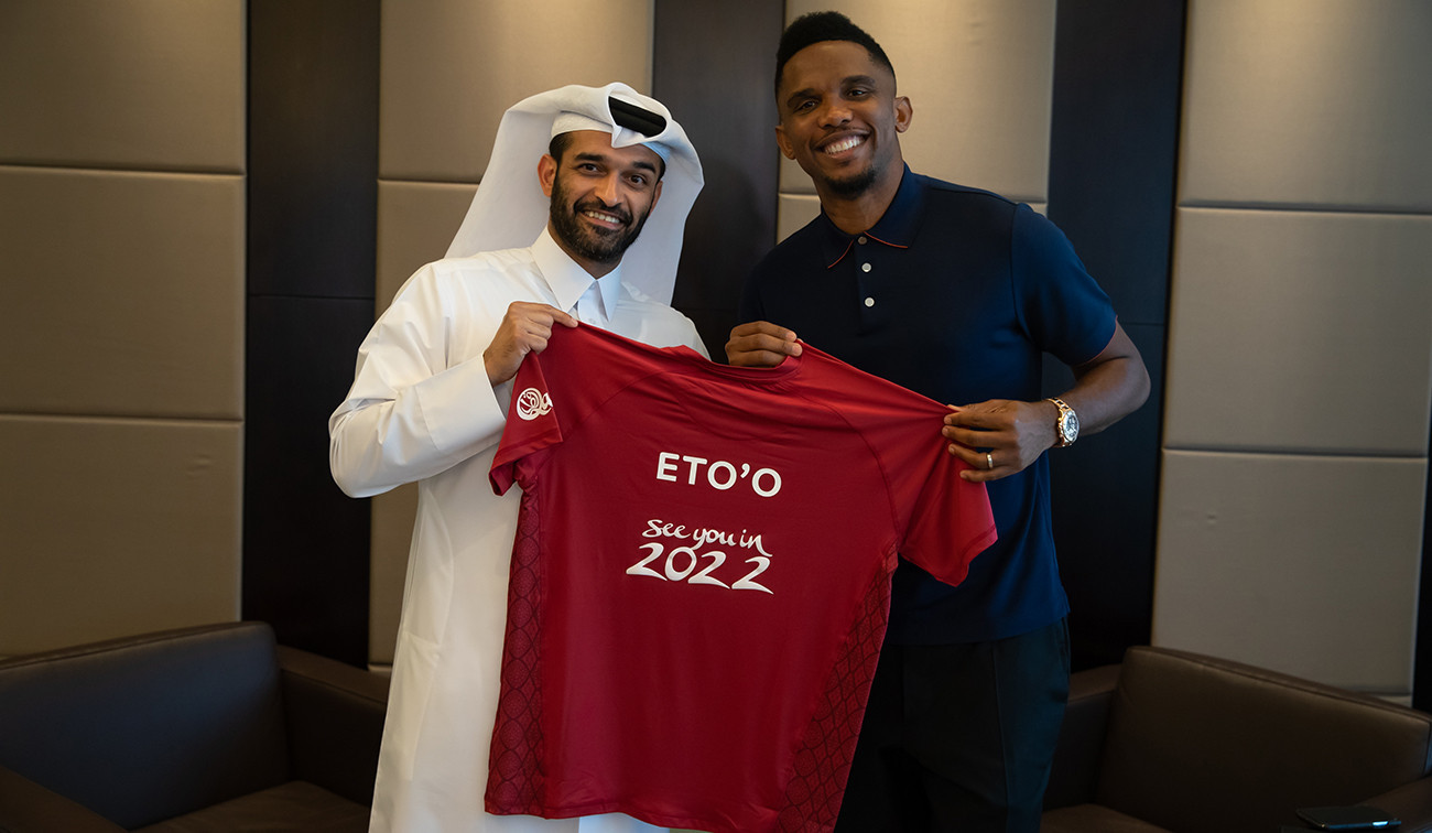 Eto'o unveiled as ambassador of organisation responsible for delivering Qatar 2022 FIFA World Cup infrastructure