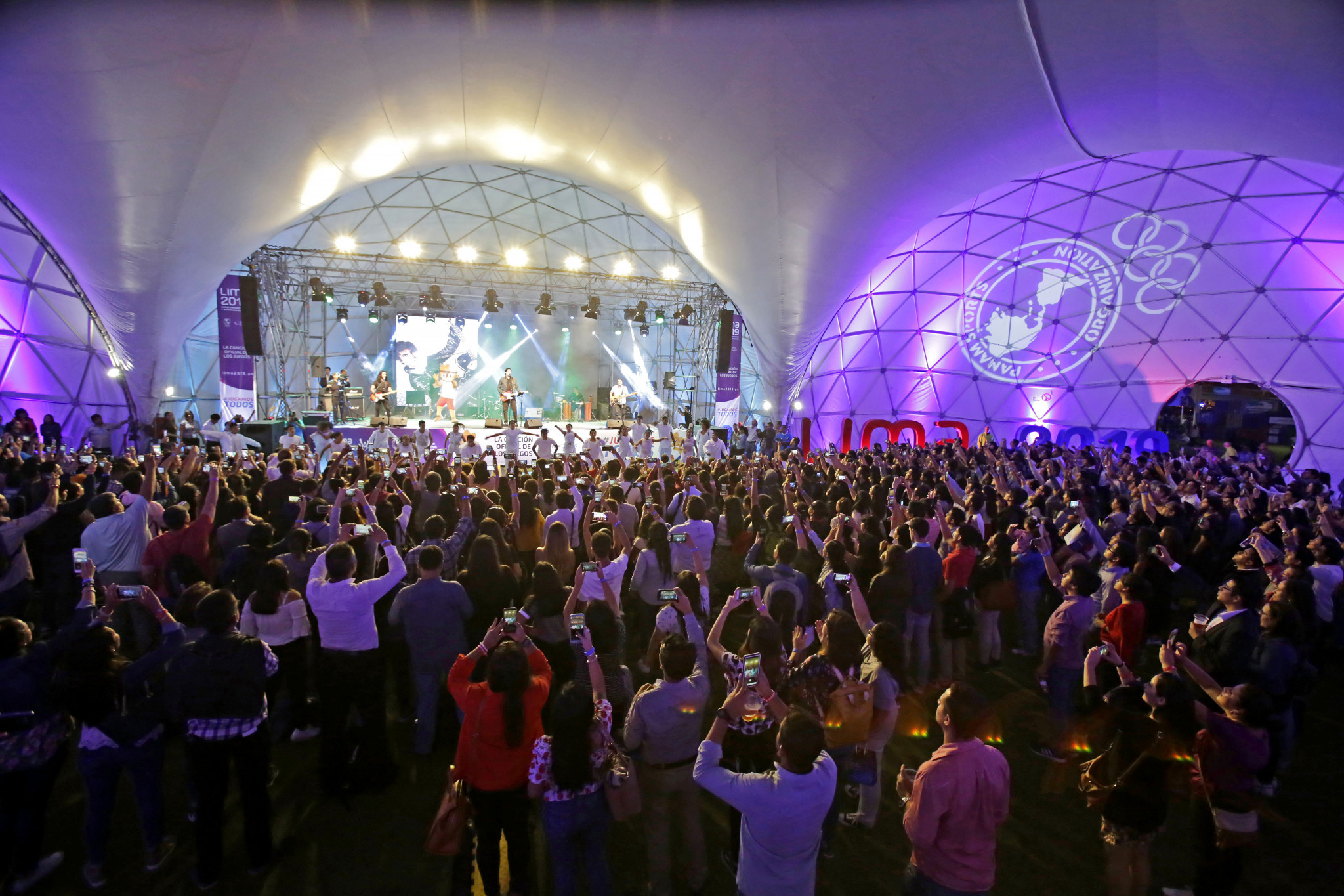 A live concert was held at the Domos Art outdoor exhibition space in San Miguel to celebrate 100 days to go until the Lima 2019 Pan American and Parapan American Games ©Lima 2019