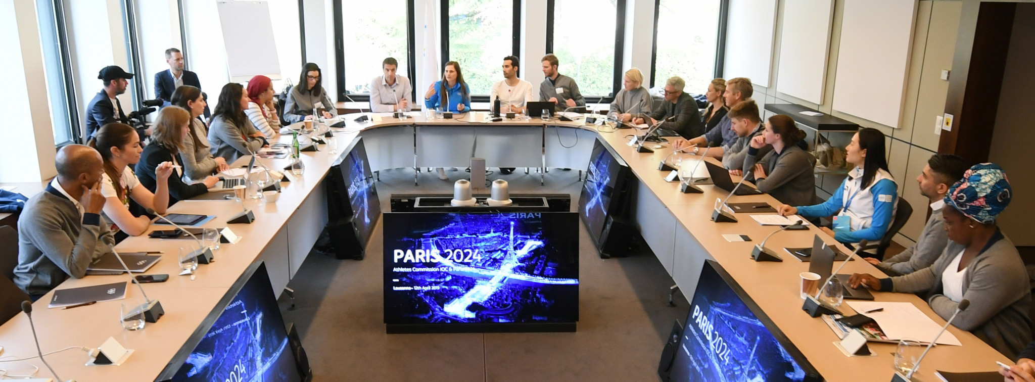 Paris 2024 updated the IOC Athletes' Commission on its projects ©KMSP/Paris 2024