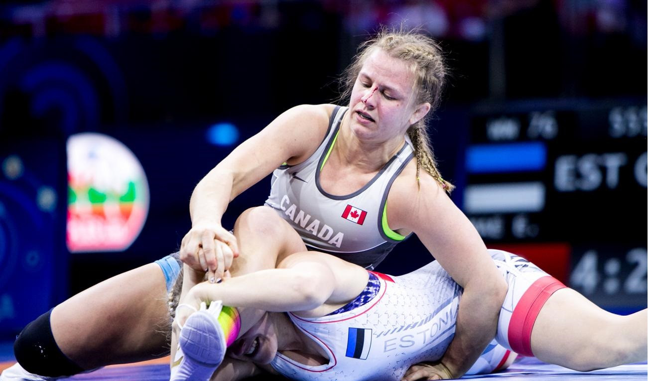 Rio 2016 Olympic gold medallist Erica Wiebe will be competing in the women's freestyle 76kg category ©UWW/Martin Gabor