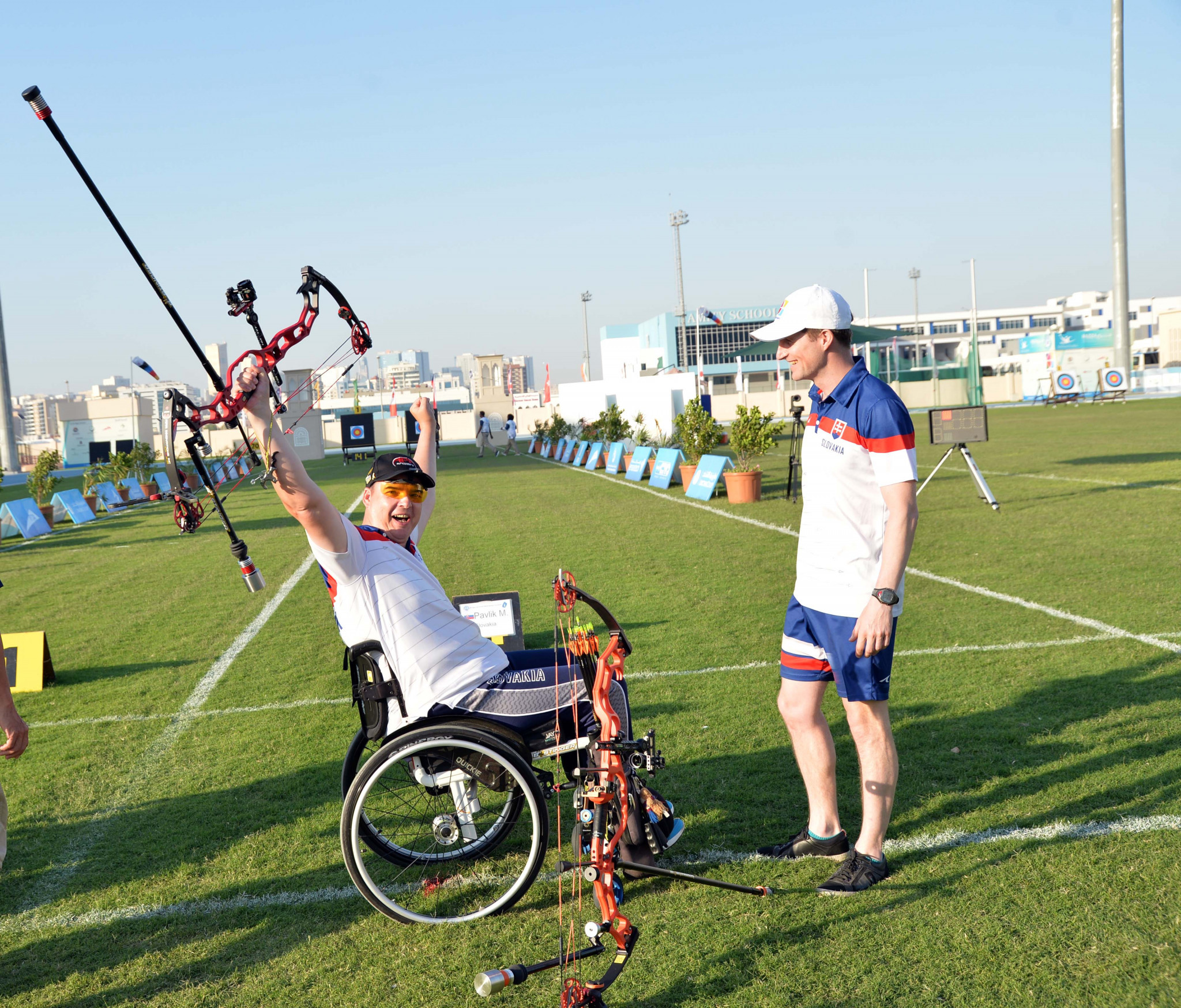 Slovakia's Marcel Pavlik earned gold in the compound men's open at the Fazza Para-archery world rankings tournament ©Asian Paralympic Committee
