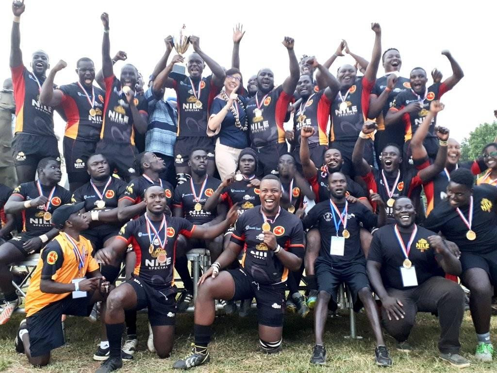 Uganda won the rugby match against the French Pacific military rugby team 34-13 ©Uganda Rugby Union