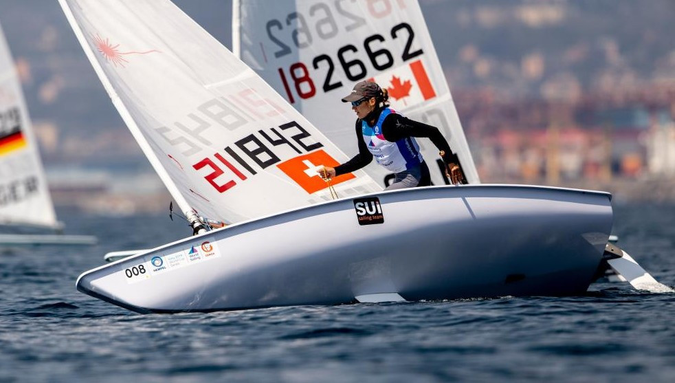 Switzerland's Maud Jayet won a laser radial at the Sailing World Cup in Genoa ©World Sailing
