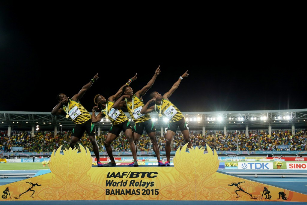 Jamaica win 4x200m for absent Bolt at IAAF World Relays as US retain Golden Baton
