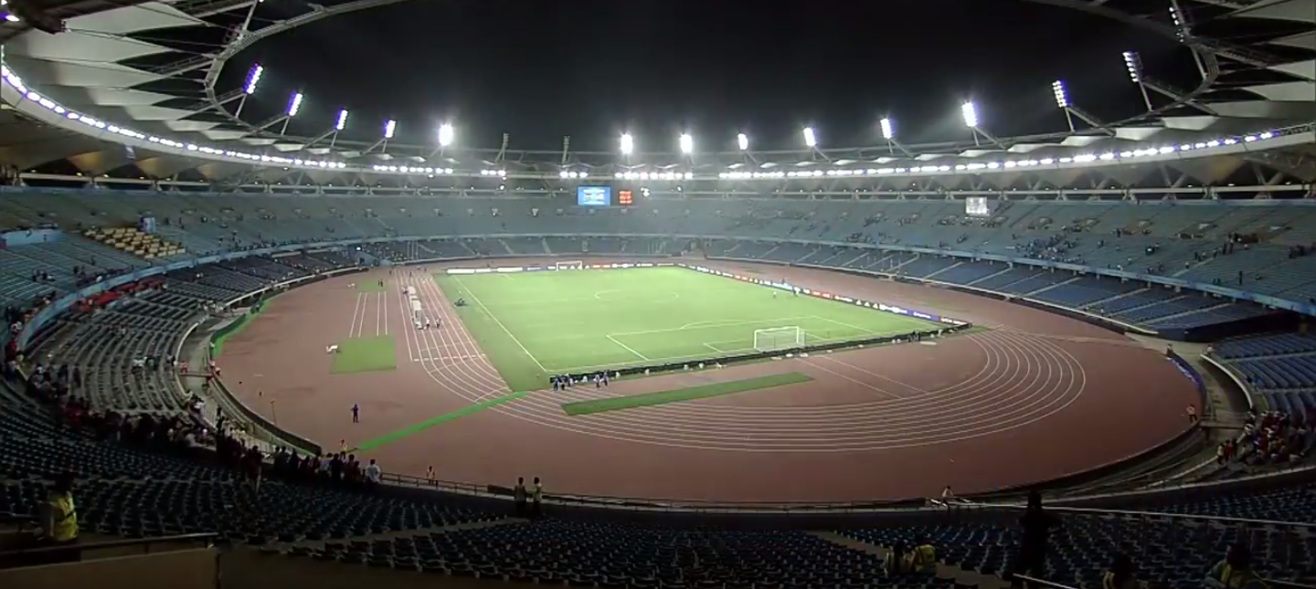 The team had been staying in the residential wing of Jawaharlal Nehru Stadium, India's national arena ©Wikipedia