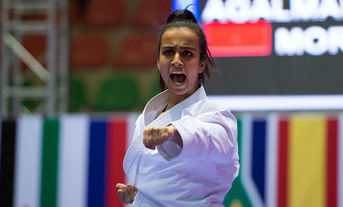 Morocco's African silver medallist in female kata, 21-year-old Sanae Agalmam, is seeking another podium finish at this weekend's WKF Karate1-Premier League event in Rabat ©WKF