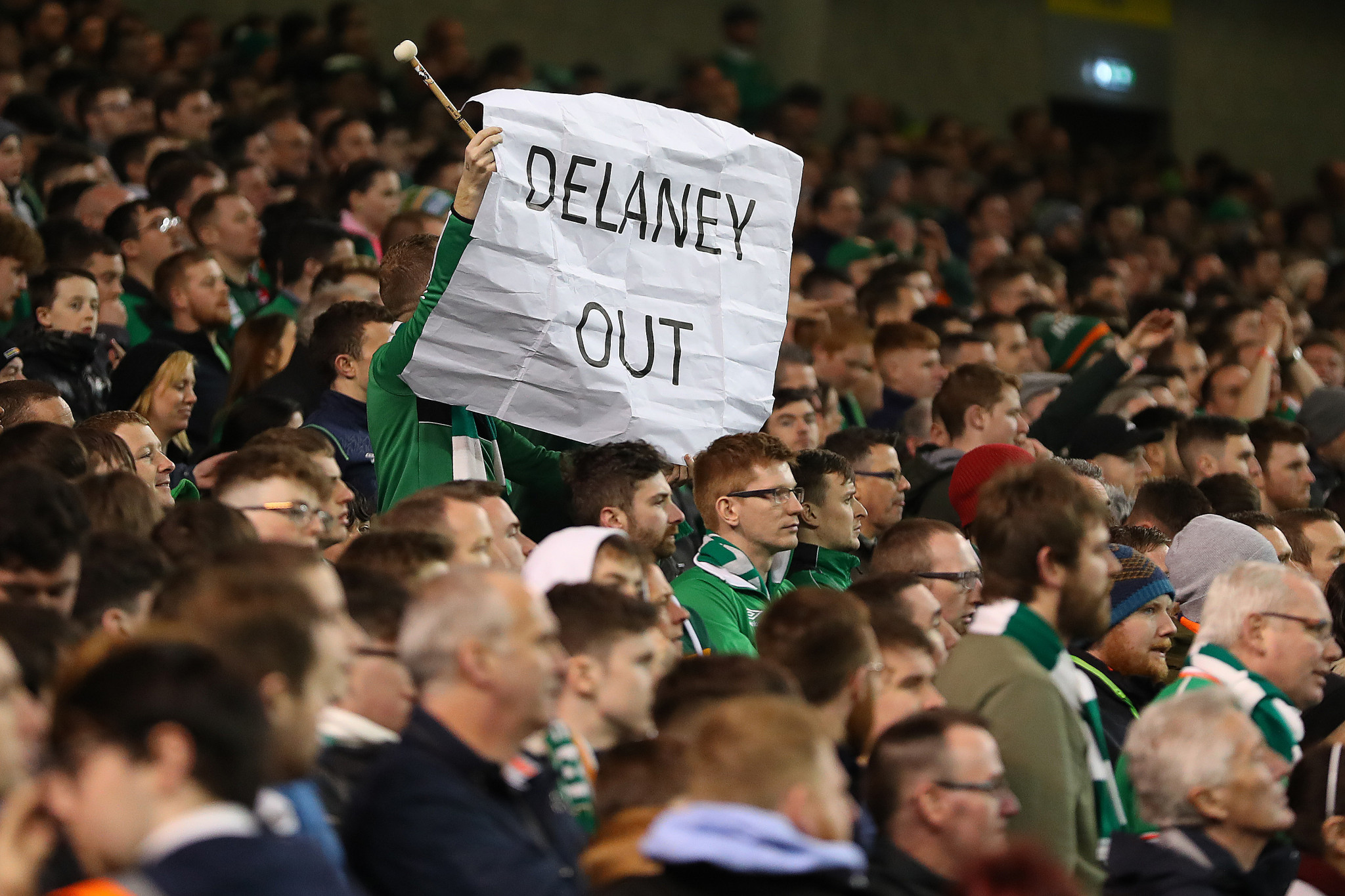 John Delaney has been a controversial figure in Irish football ©Getty Images