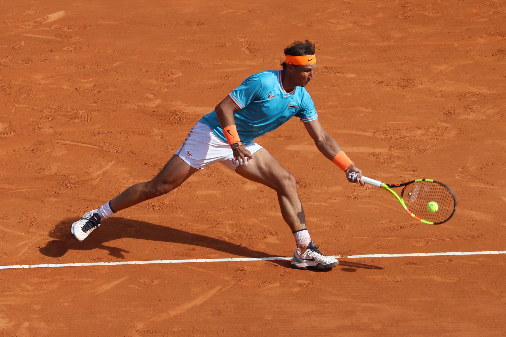 Spain's Rafael Nadal defeated Bulgaria's Grigor Dimitrov to reach the Monte-Carlo Masters quarter-finals ©Getty Images