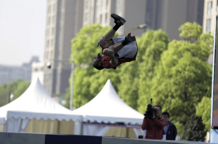 The FIG Parkour World Cup event that starts tomorrow in Hiroshima is one of a number of events within the banner of the FISE World Series ©FIG