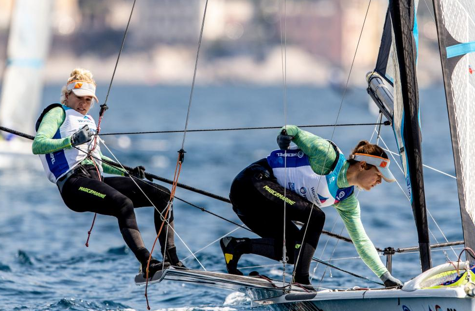 Dutch duo lead 49erFX event at Sailing World Cup in Genoa