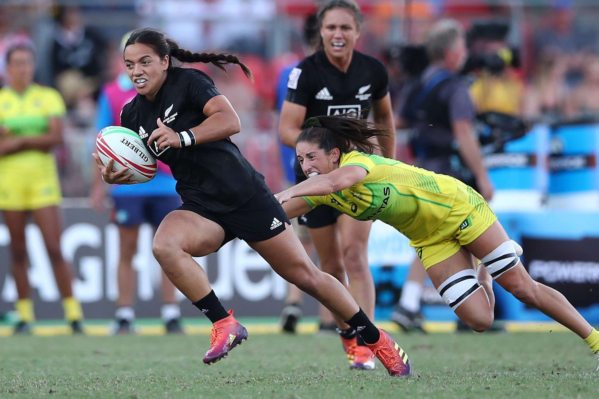 New Zealand are aiming to set a record for consecutive wins at the World Rugby Sevens Series in Kitakyushu ©World Rugby