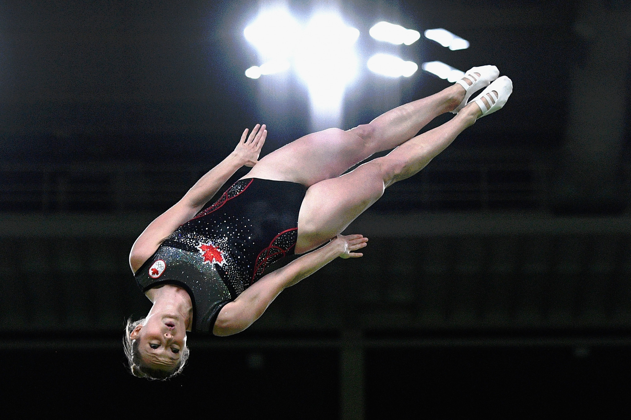 Canada's double Olympic gold medallist Rosannagh MacLennan will be competing in the women's event at the FIG Trampoline World Cup in Minsk ©Getty Images