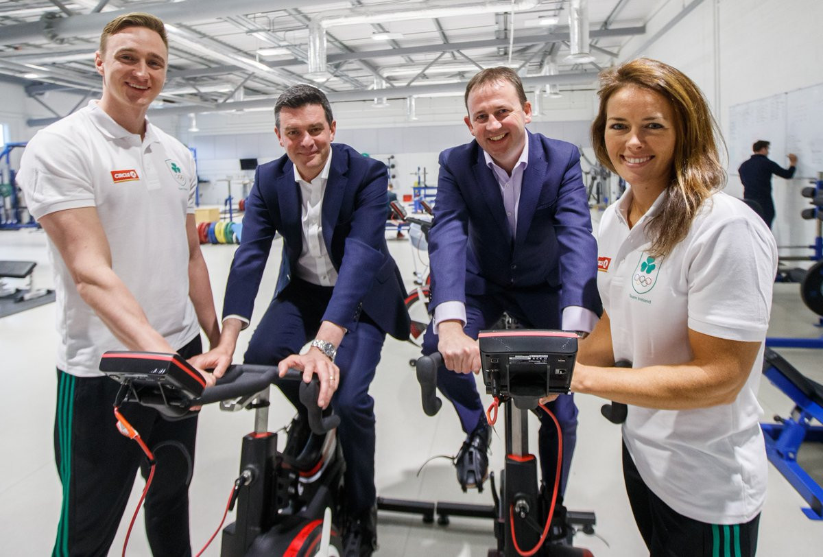 The announcement of the partnership between Circle K and Team Ireland took place at the National Sports Campus in Dublin ©Team Ireland