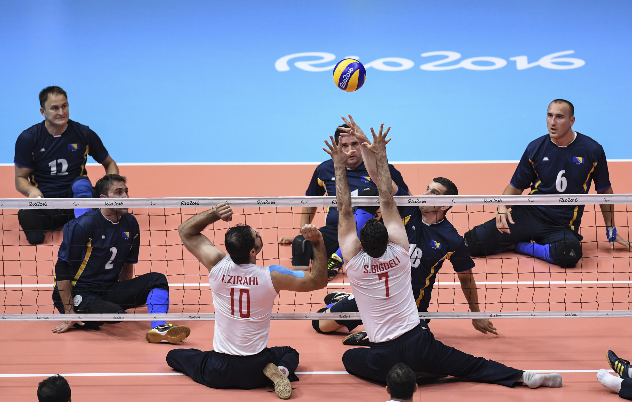 Sitting volleyball currently features at the Paralympic Games ©Getty Images