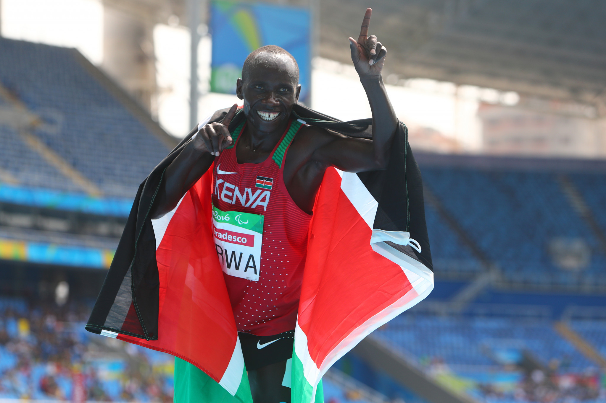 Henry Kirwa was among the Kenyan athletics team which participated at the 2016 Paralympics in Rio ©Getty Images