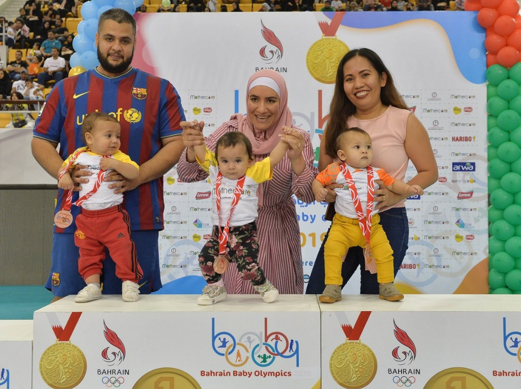 Bahrain Olympic Committee held the second edition of the Baby Games ©BOC