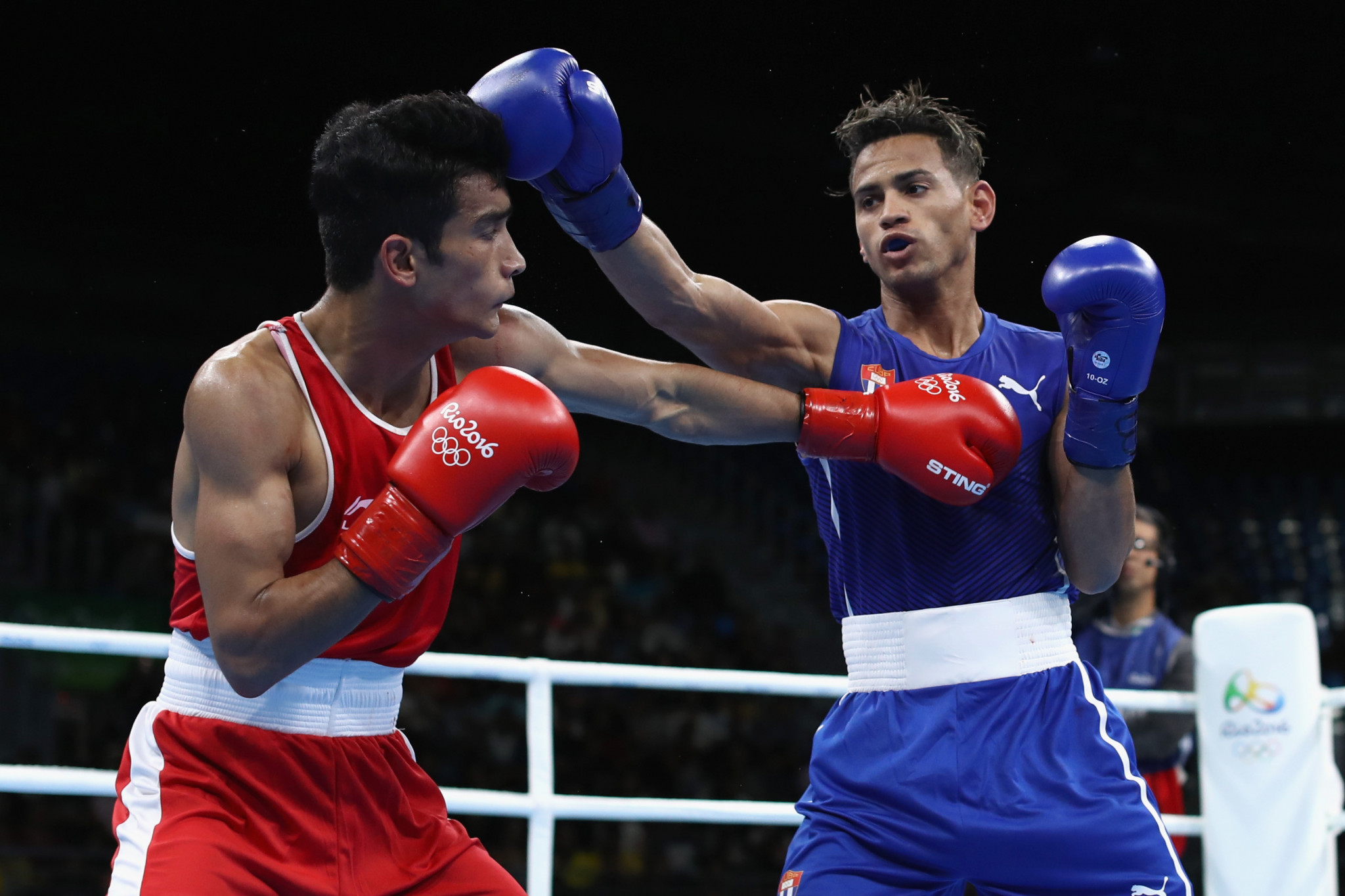 World Championships bronze medallist Shiva Thapa of India progressed to the last 16 of the men's lightweight division ©Getty Images