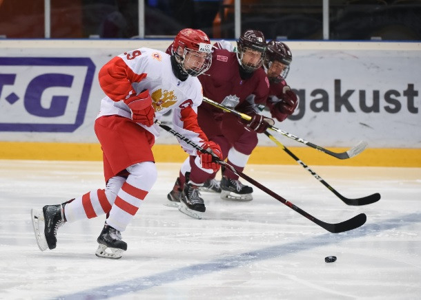 Russia beat Latvia to claim second victory at IIHF Under-18 World Championship