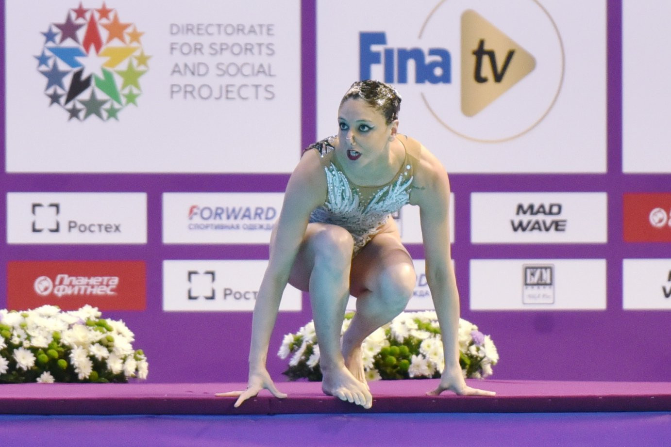 Italy's Linda Cerruti won the solo free event at the FINA Artistic Swimming World Series in Kazan ©FINA