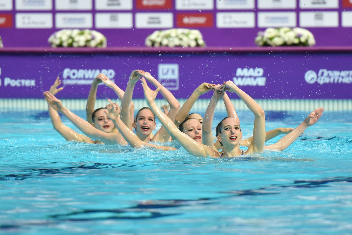 Russia won the team free event at the FINA Artistic Swimming World Series in Kazan ©FINA